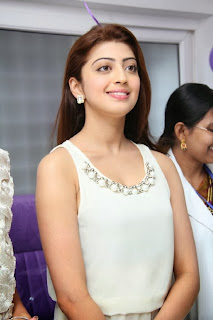 Actress Pranitha Pictures in White Dress at Homeo Trend Super Speciality Hospital Launch  0074.jpg