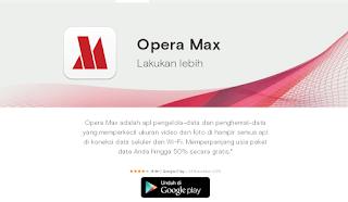Aplikasi Opera Max, Aplikasi Ponsel Cerdas Android Untuk Menghemat Kuota Internet