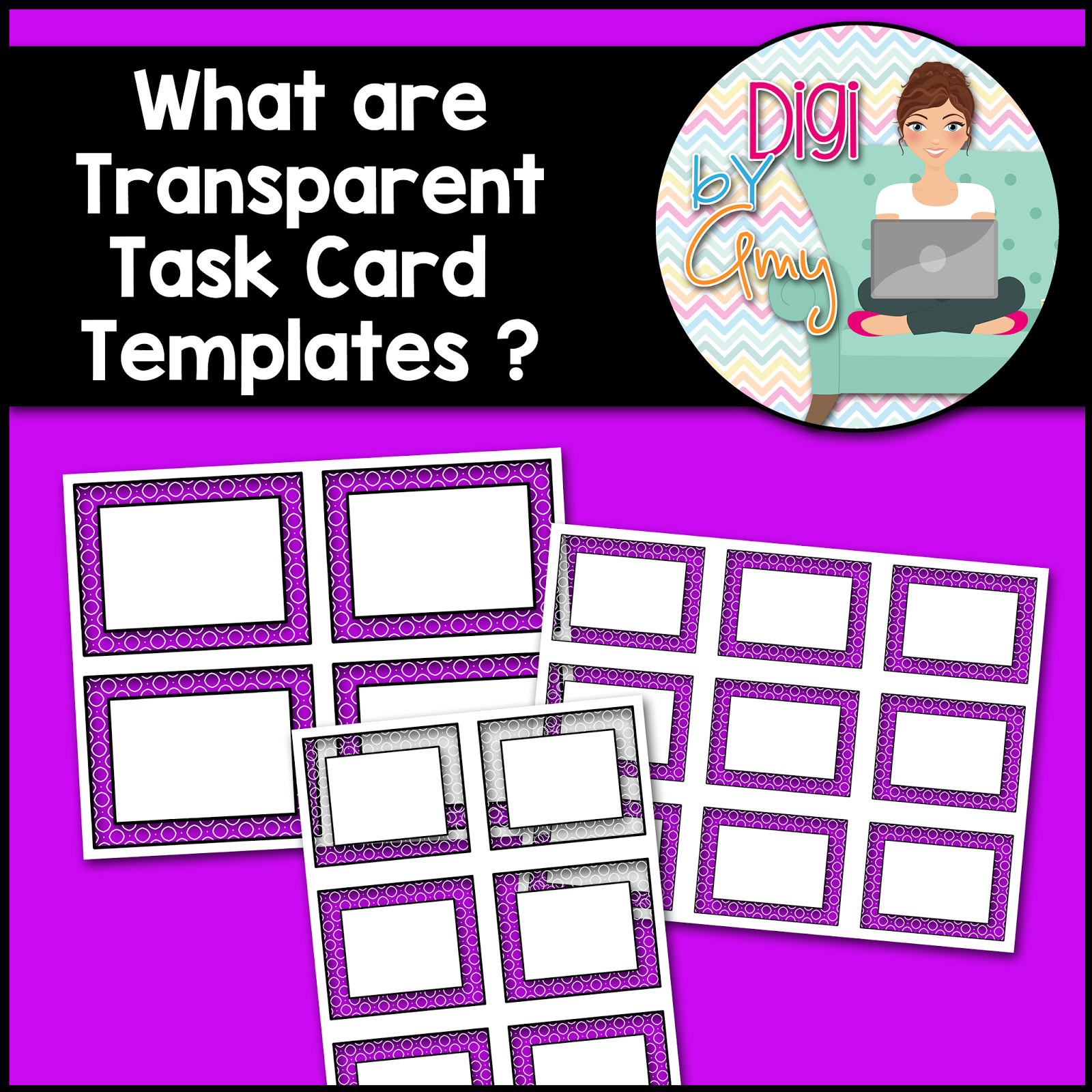 Digi By Amy What Are Transparent Task Card Templates