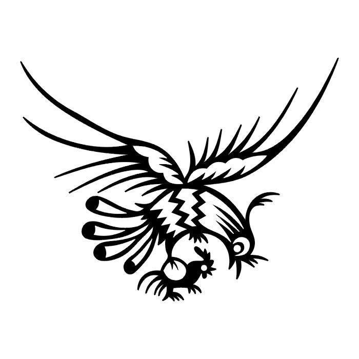Tribal Bird Tattoo Designs