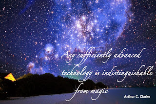 Starry night sky with quote