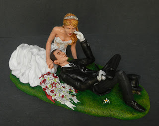 sposini somiglianti cake topper speciale artistico bouquet punti luce orme magiche