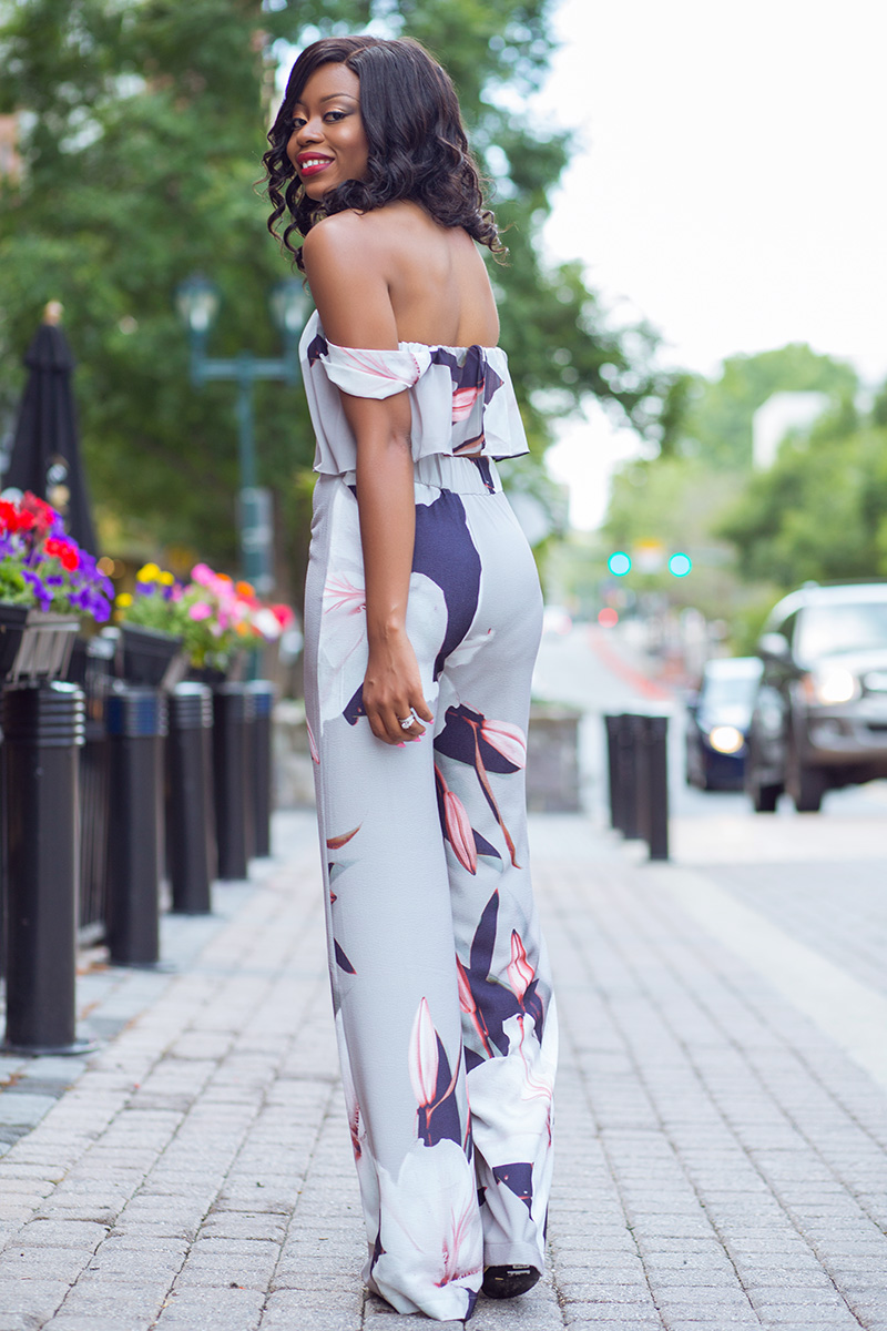 High waist pants and Off Shoulder Top
