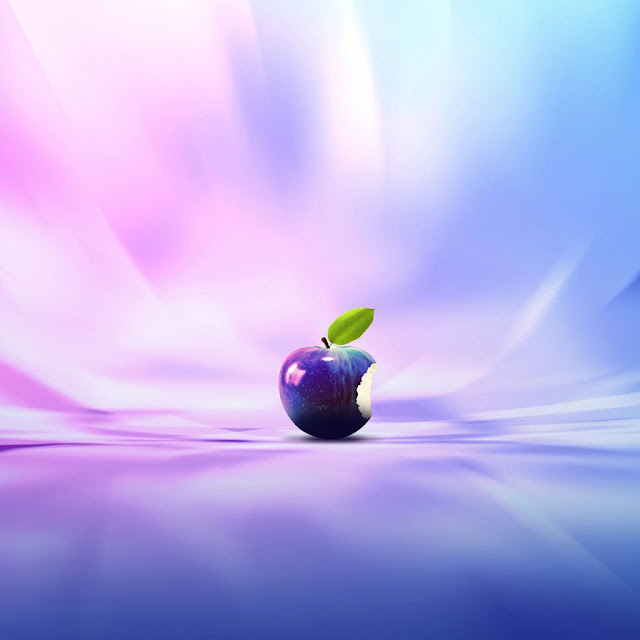 iPad Wallpaper - Purple Apple