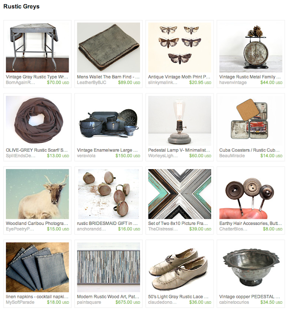 curated vintage and aged items from Etsy