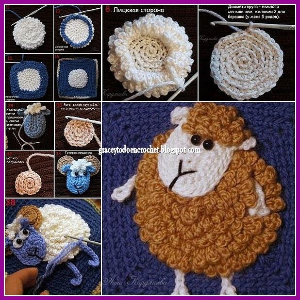 Grace y todo en crochet sheep 2015 ovejita 2015 for Tejidos y novedades paredes