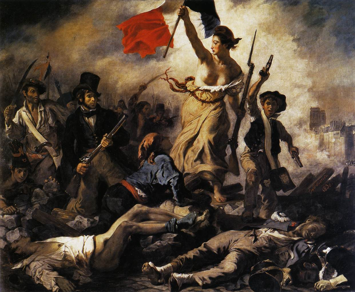Delacroix Liberty Painting Defaced In
