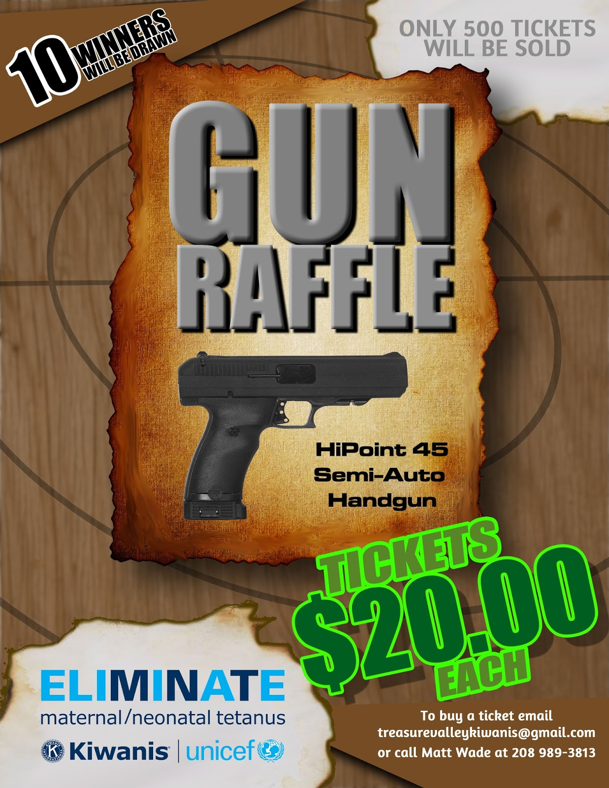 Raffle Prizes Flyer Kiwanis Gun Raffle Flyer