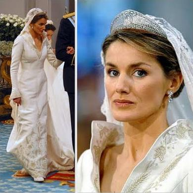 Fashion princess of spain wedding dress