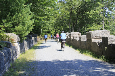 biking on the carriage trails at Acadia National Park