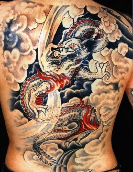 ... dragon tattoo on their back and some has so little dragon tattoo on