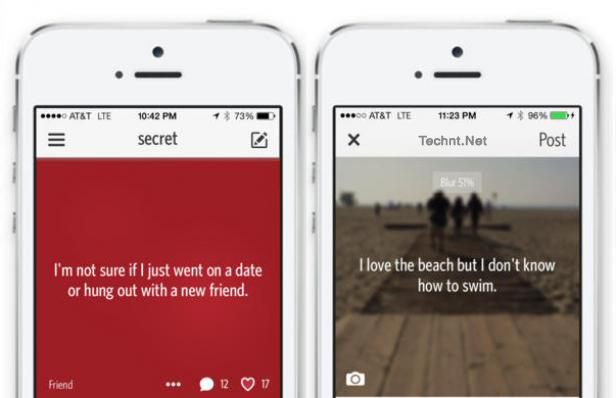 شبكة SECRET الإجتماعية مشاركة الأسرار والأفكار بدون بروفايل - التقنية نت technt