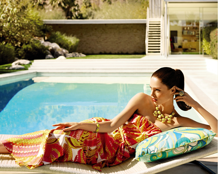 Trina Turk Pisces in Punch outdoor cushion