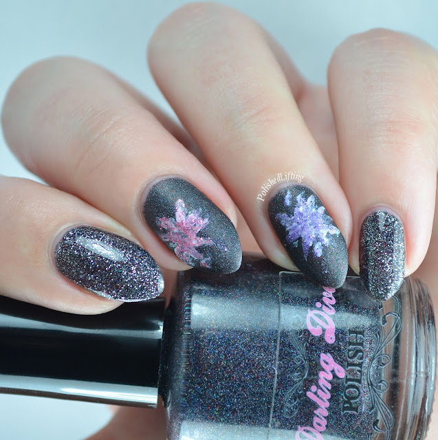 New Years Eve nail art Darling Diva Polish Firecracker Lacquer Sinful Colors