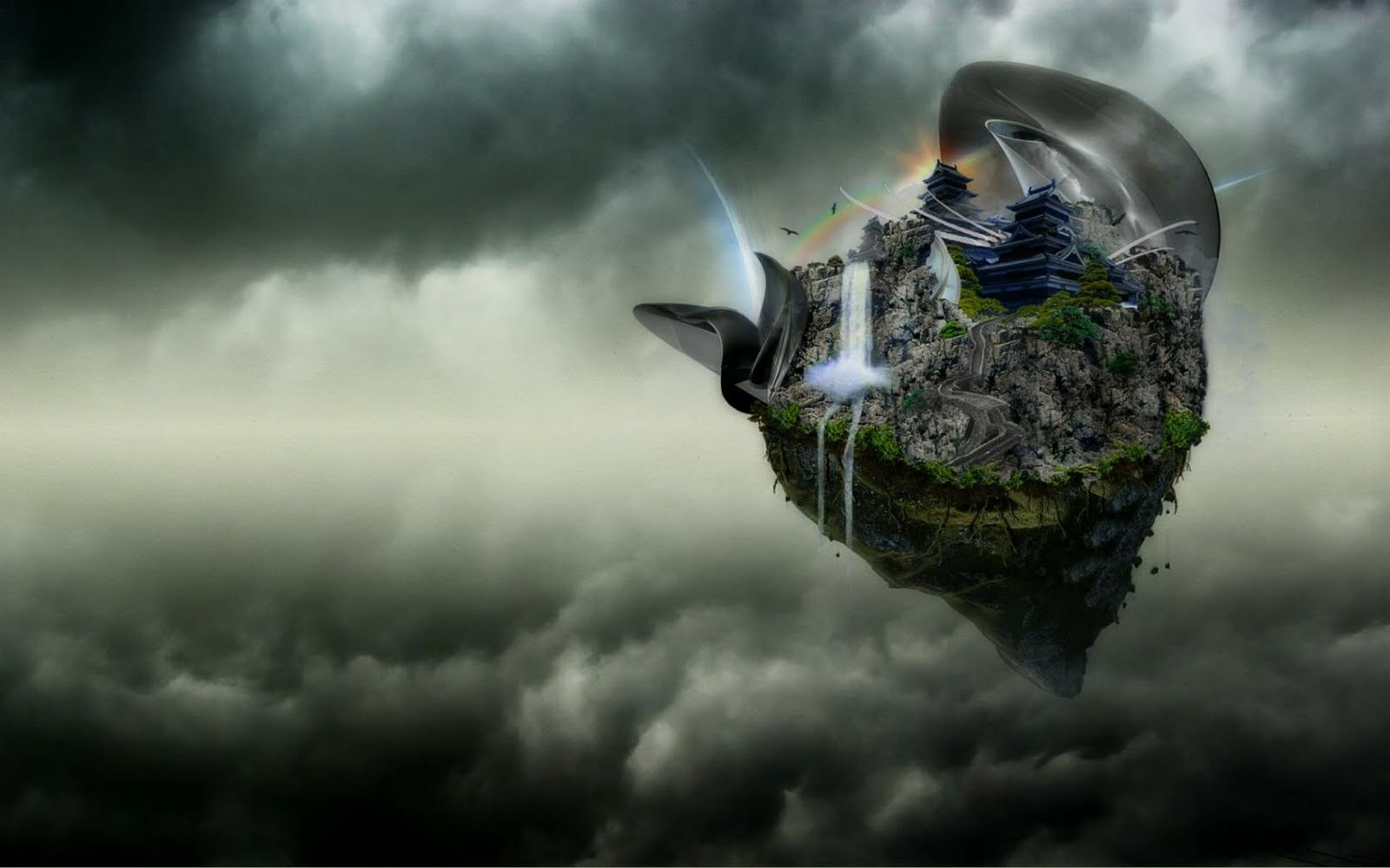 Abstract Nature In Storm Clouds HD Wallpaper | Full HD ...