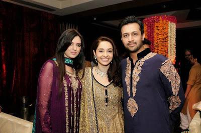 Atif Aslam & Sara Atif, at Juggun Kazim's Mehendi In Pakistan Celebrities