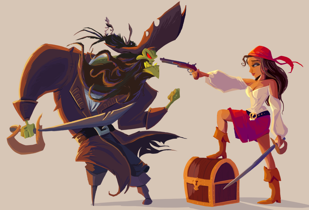 Monkey island 2 lechuck s revenge concept art the international - Lechuck And Elaine From Monkey Island Art By Paco Vink Gaming Pinterest Monkey Island Monkey And Gaming