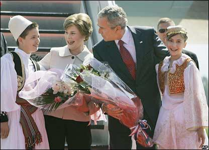 George Bush in Albania