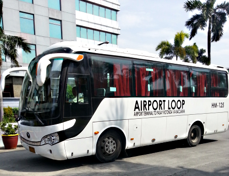 how to go to NAIA-3 from MRT/LRT by NAIA Airport Loop bus