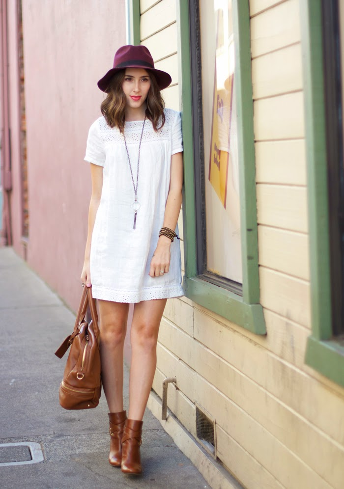 White Dress For Fall