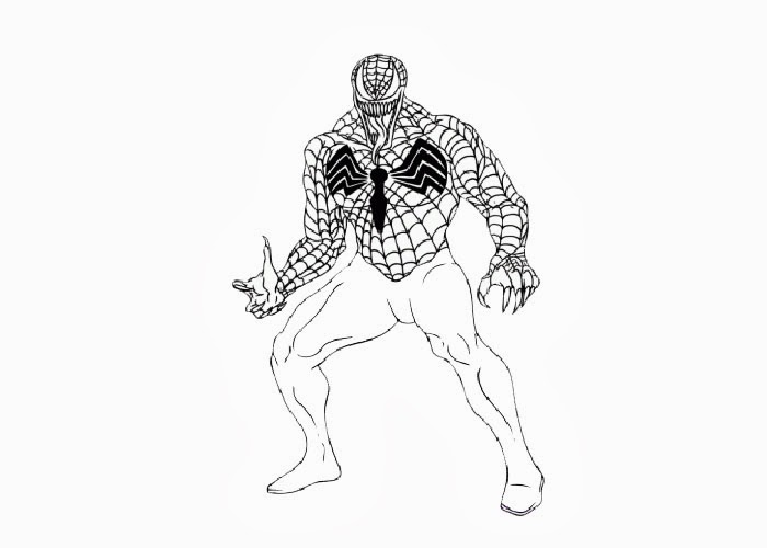 Pin Coloring Pages Venom Activities On Pinterest
