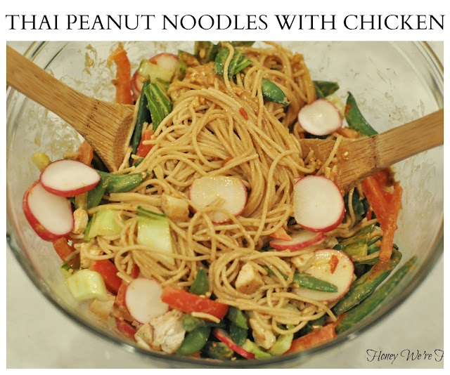 Honey We're Healthy: Thai Peanut Noodles with Chicken