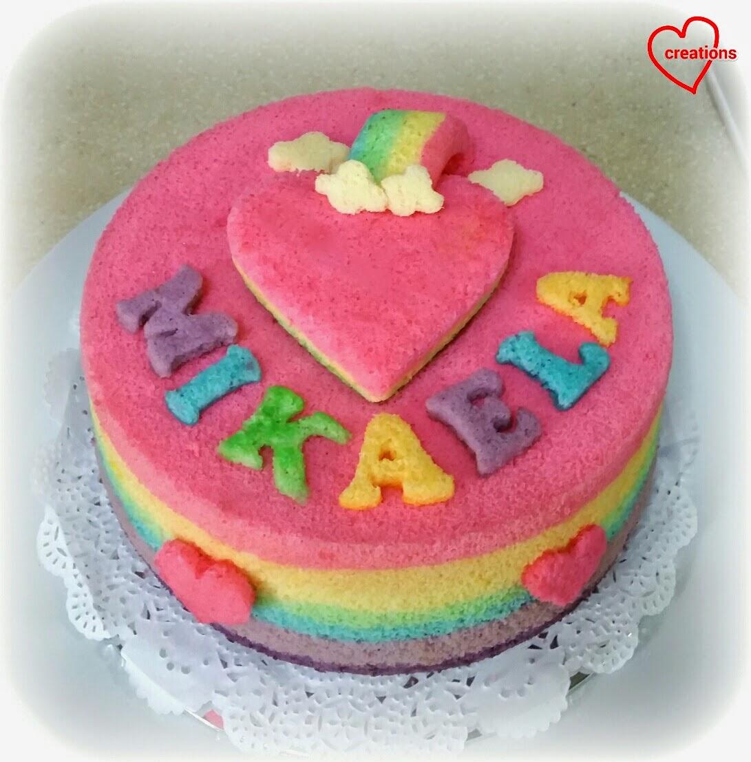 Frozen Rainbow Chiffon Cake