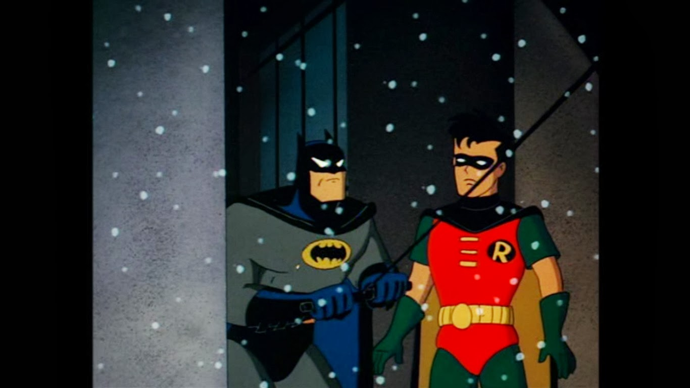 that pisses batman off because now he has no one to punch in the face though robin is making himself a good candidate with his i told you so remarks - Batman The Animated Series Christmas With The Joker