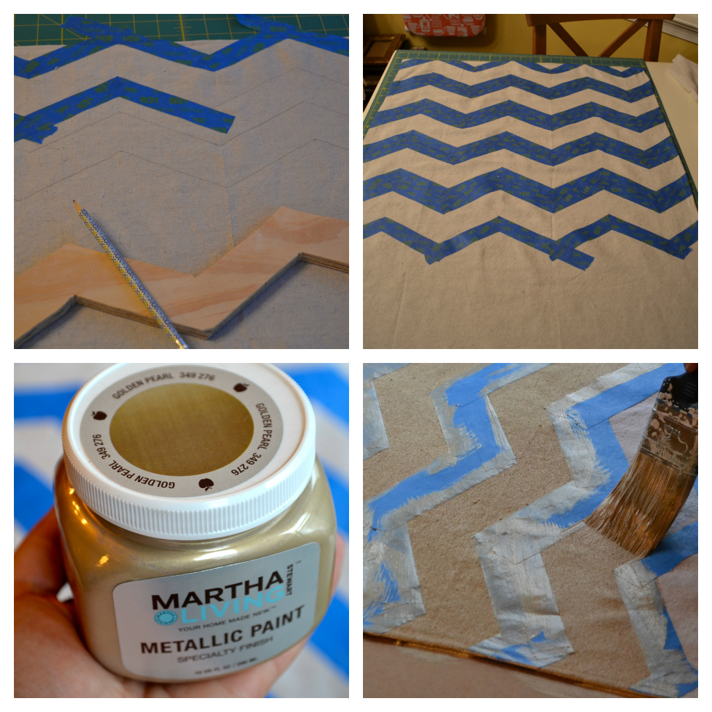The Domestic Doozie Diy Painted Chevron Table Runners