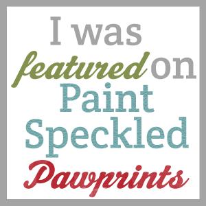 Paint Speckled Pawprints