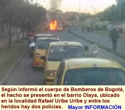 BOGOTÁ: Al menos 7 heridos tras una explosión en el sur de Bogotá