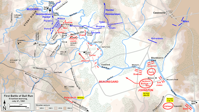 1st Manassas 1861 Map