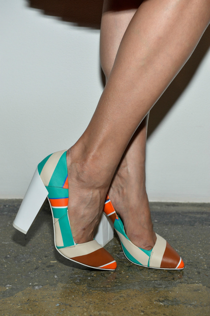 brand footwear multi colored high heeled shoes 2013