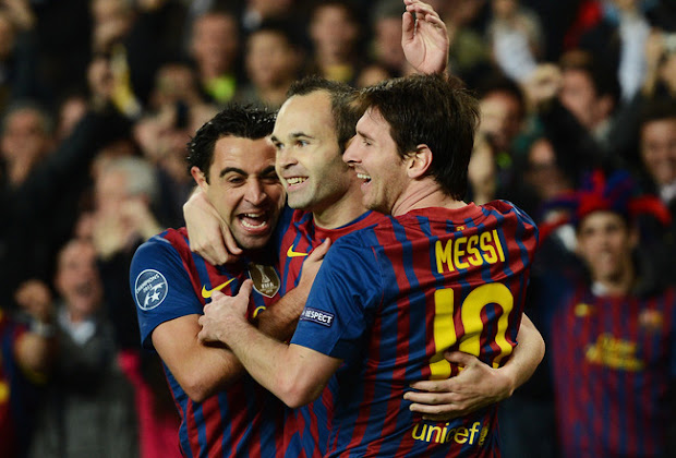Xavi, Iniesta and Messi