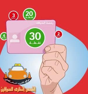 رخصة السياقة بالنقط