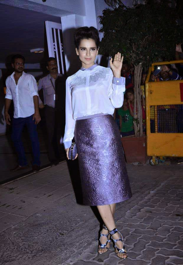 Kangna Ranaut at Karan Johar Birthday party