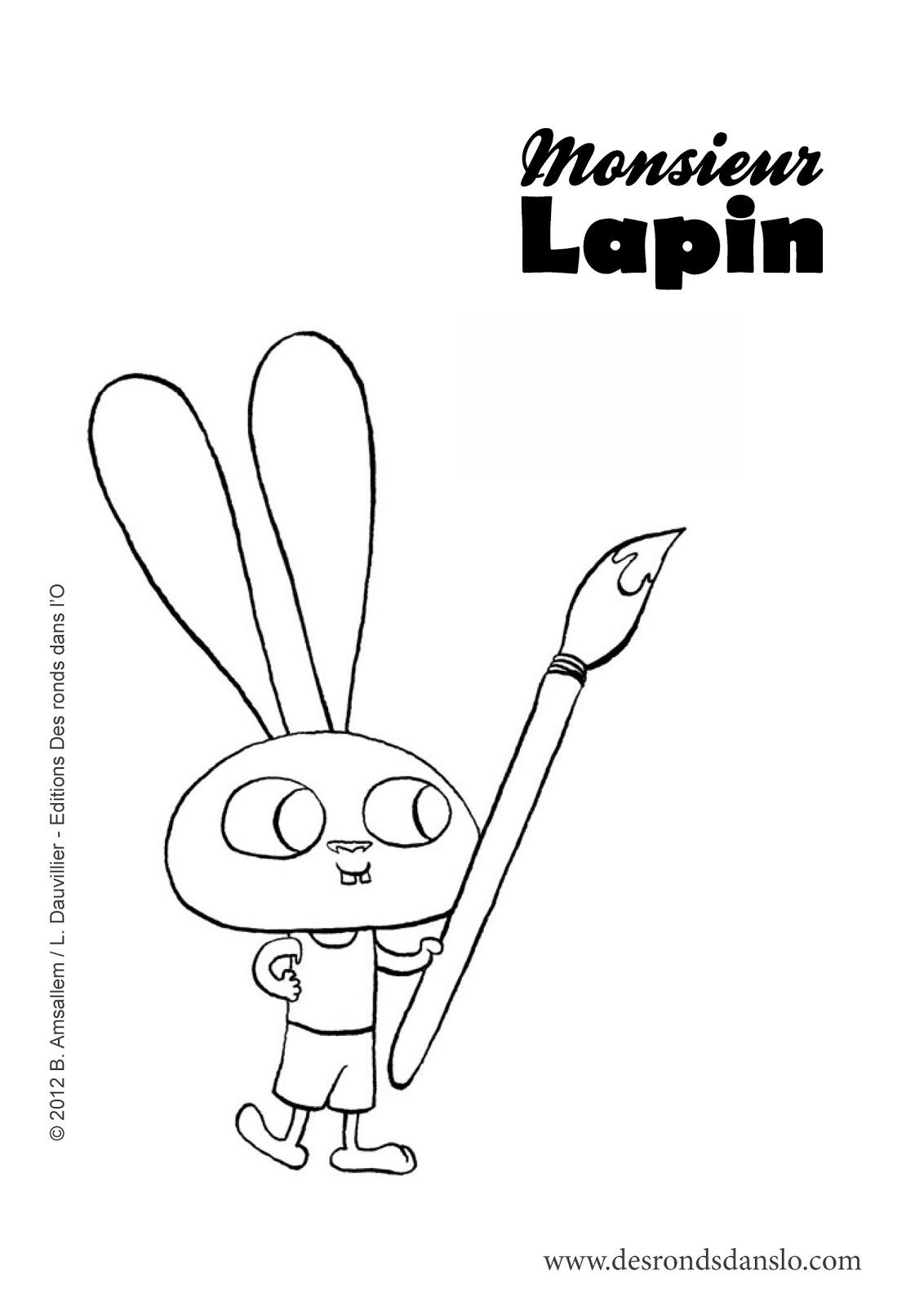Coloriage Lapins à imprimer Coloriage à imprimer - coloriage lapin à imprimer