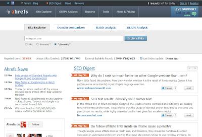ahrefs web tool