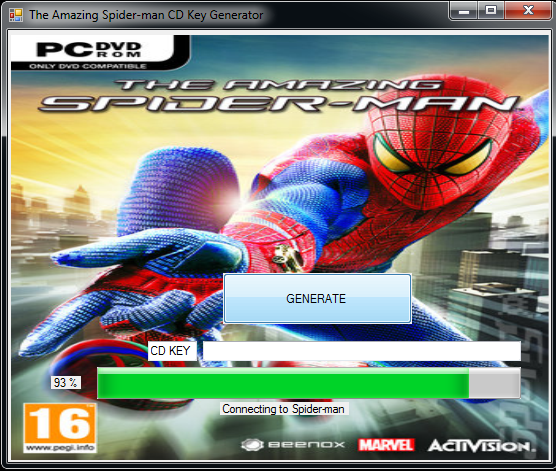 The Amazing Spider Man Game Key Generator 2014 100% Working And Tested