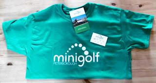 The Peterborough Minigolf t-shirt