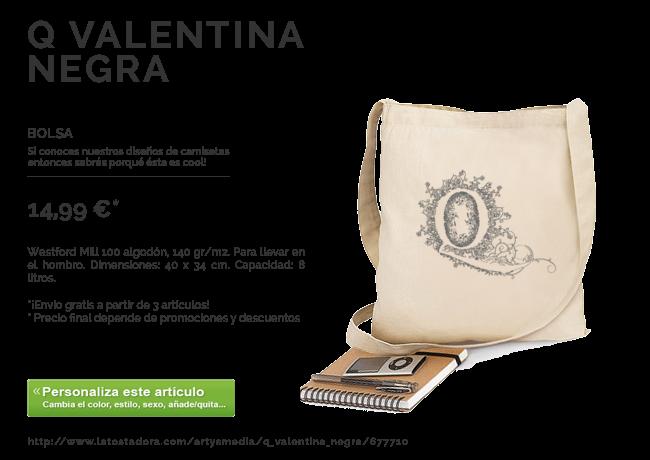 Bolsa Q Valentina Negra