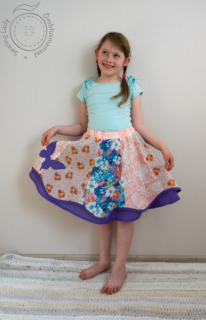 patchwork skirt, summer skirt