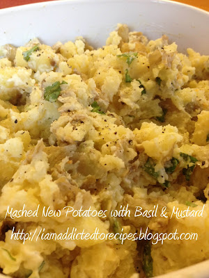 Fork Mashed New Potatoes with Basil and Mustard | Addicted to Recipes