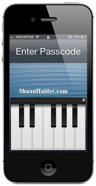 Play Piano on iPhone Lock Screen to Unlock It