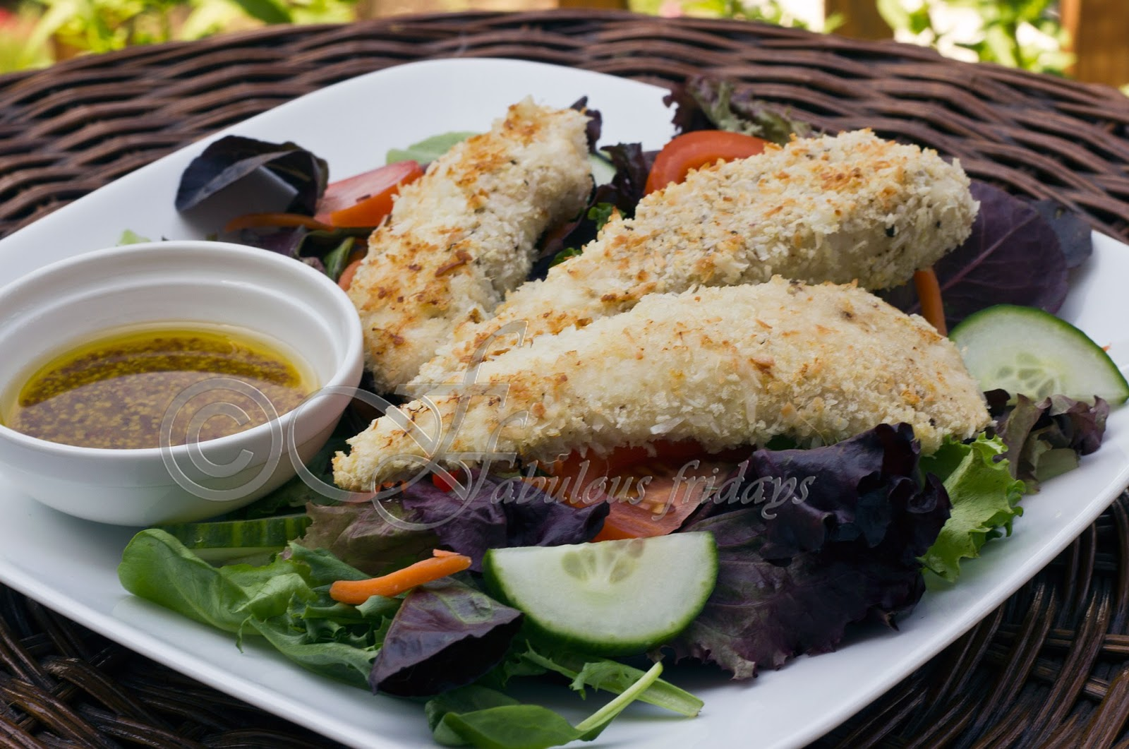 Coconut Chicken Salad With Warm Honey Mustard Vinaigrette ...