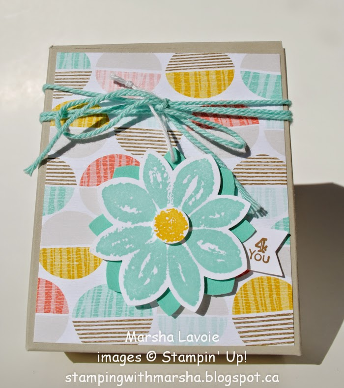 3D project, Stampin up, Petal Potpourri