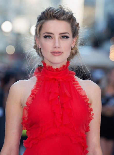 Actress @ Amber Heard - European Premiere of 'Magic Mike XXL' at Vue West End in London