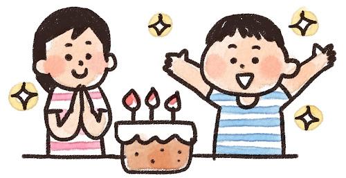 誕生日会のイラスト「バースデーパーティ」