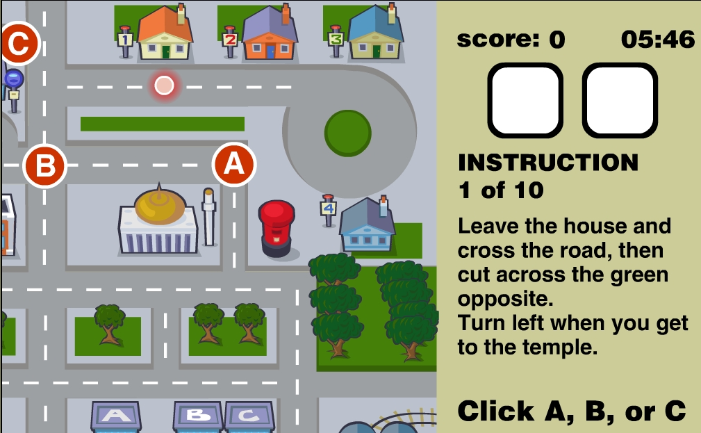 Learning English Directions Game