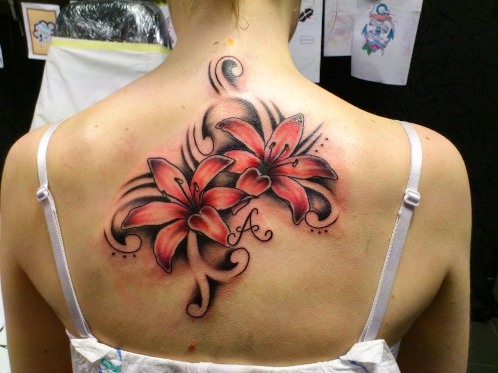 t towierung nadel lilien tattoos